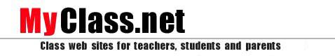MyClass.net - Class web sites for teachers, students, and parents